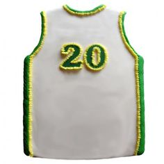 Basketball jersey cake- made with CK Products Pantastic Pan