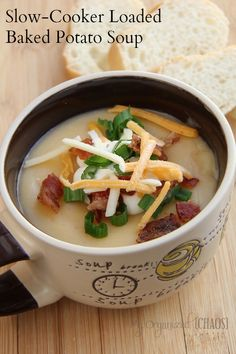 Slow-Cooker Loaded Baked Potato Soup! Looks delightful!  ViaTammi Roy