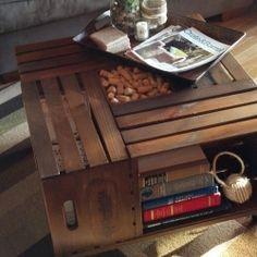 DIY Vintage Wine Crate Coffee Table.