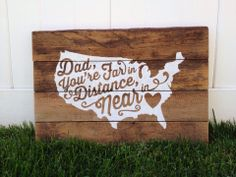 A beautiful custom sign just for Dad from Barnwood Built.