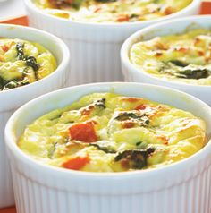 Aren't individual servings the most fun? These Parmesan Spinach Crustless Quiches are baked in their own ramekins so everybody gets their own.