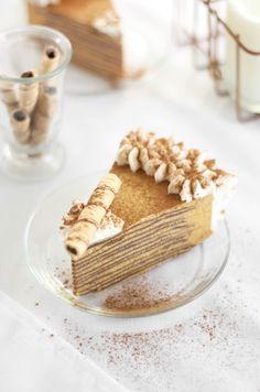Pumpkin Bavarian Crepe Cake