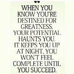 success and when you know you need it