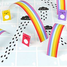 Rain & Rainbows Board Game printables, board game kids, printable templates, diy crafts, ladders, board games, rainbow board, free printabl, printabl rain