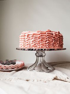 Chocolate Cake with Strawberry Buttercream