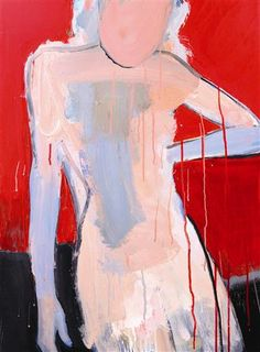 Figure in Red by Stephen Poling | acrylic painting