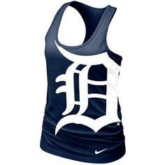 Nike Detroit Tigers Ladies Cotton Tank Top - Navy Blue