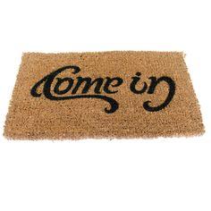 Come In/Go Away reversible doormat