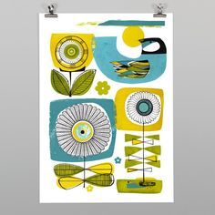 Sunny Days Print by Holly Roach - Art Prints NZ Art Prints, Design Prints, Posters & NZ Design Gifts   endemicworld