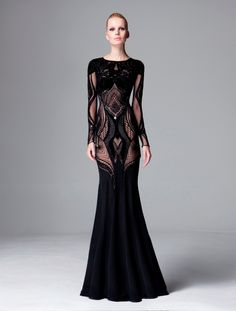 dresses and gowns 2014 fall, fashion, coutur, prefal 2014, cloth, style, zuhair murad pre-fall 2014, murad prefal, black