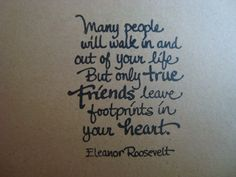 Eleanor Roosevelt Friendship Quote  Two by Stationarycreations, $4.50