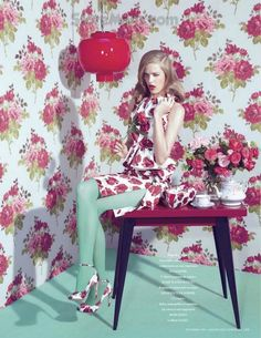 """The Terrier and Lobster: """"P.O.C.: Print Obsessionnel Compulsif"""": Milana Kruz by Kourtney Roy for L'Officiel Paris"""