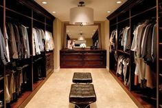 Best man closet...just add a recliner, tv and mini-bar!