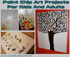 Paint Chip Art Projects For Kids and Adults!