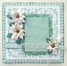 christma card, card inspir, backgrounds, christmas, white poinsettia, scrapbook pages, cricut, cards, paper craftingcom