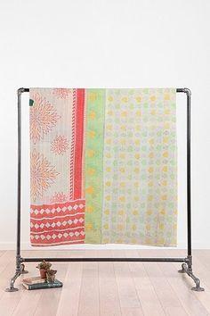 Urban Renewal Vintage One-Of-A-Kind Kantha Quilt