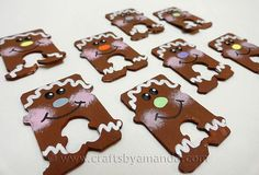 Bread Tag Gingerbread Men - Crafts by Amanda - could be cute for a swap