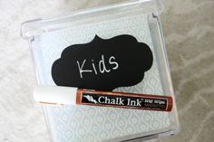 Peel-and-stick Chalkboard labels - LOVE
