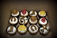 Cowboy cupcakes! Great for a Cowboy!