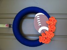 BSU Bronco Football Wreath. Yep I made this :)