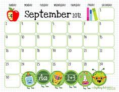 Free printables! Calendars. So cute!