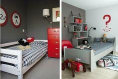Home jongenskamer rood grijs wit on pinterest 16 pins - Kamer in rood en grijs ...