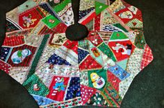 My crazyquilt Christmas Tree skirts- looks a lot like mine!