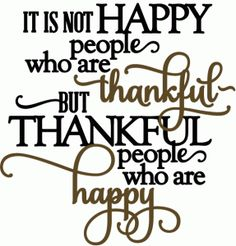 Silhouette Online Store: thankful people are happy - vinyl phrase