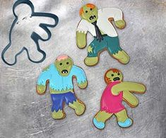 Unleash the walking deliciousness on your home when you whip up a batch of treats using the zombie cookie cutters. These novelty cookie cutters make ideal snacks for zombie viewing parties and let you flip the cards on them as you take a bite of their sugary limbs or head. Buy It $7.50 via Amazon.com