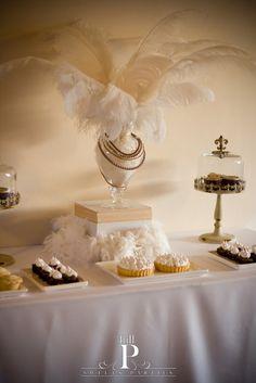 Romantic glamor dessert table