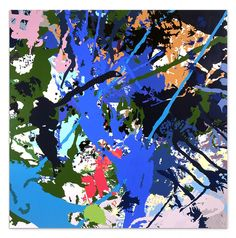 INGRID CALAME  Bb-AAghch!, 2003  enamel on aluminum  72 X 72 inches