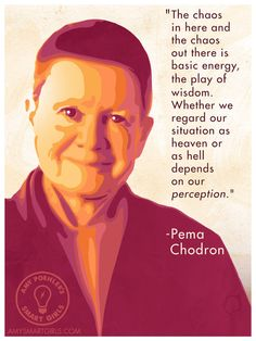 Take a deep breath and put your mind at ease with this inspirational print featuring the wise Pema Chodron. She's a Smart Girl favorite whose words inspire mindful tranquility.  Get your own Pema Chodron print at the Smart Girls Etsy Shop!