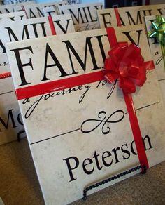 Family name tiles