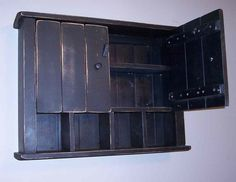 Large Cottage Style Wall Cabinet - Handmade Primitive in Your Choice of Colors - ShopHandmade