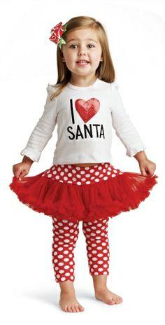 I Love Santa Petti Set Holiday Outfit