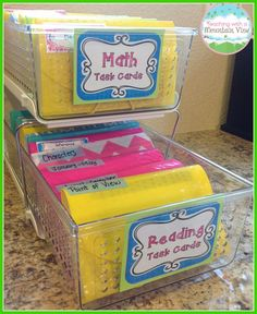 I am loving this 2-tier task card organizer!