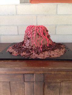 Volcano cake for Hawaiian theme party