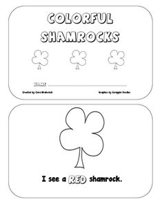 Colorful Shamrocks is a great Emergent Reader for Kindergarten and First Grade beginning readers. This book allows students to work on recoginition...