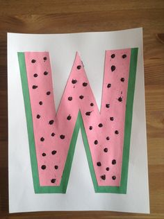 W is for Watermelon Craft - Summer Craft - Letter Craft