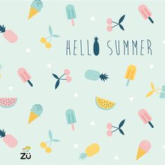 color palettes, pineappl, summer patterns prints, summer pattern prints