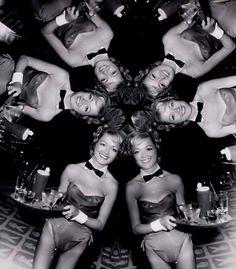Kaleidoscope of  a Playboy Bunny Waitress ~Photo by Weegee 1961~♛