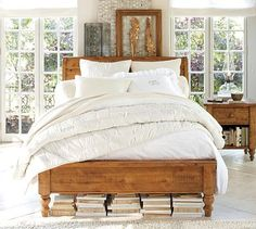 Ashby Sleigh Bed & Dresser Set #potterybarn