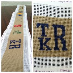 "aculturedpearl: ""25 days and 14,152 stitches later, I have finished stitching my brother's custom needlepoint belt! Now I will send it to the leather finisher."""