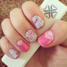 Jamberry nail wraps, nail art #touchoflaceJN, #FeminineFlairJN, #Jamberry