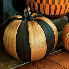 Fashionable Striped Pumpkin How-To