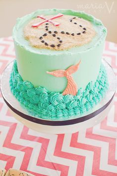 Mermaid pirate cake
