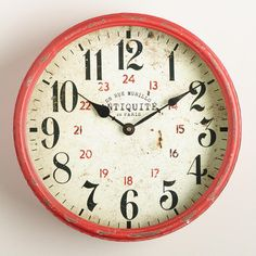 One of my favorite discoveries at WorldMarket.com: Daphne Kitchen Clock