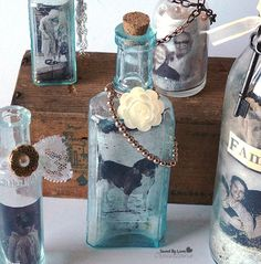 Photo In a Bottle Upcycle from @savedbyloves #recycledglassbottle