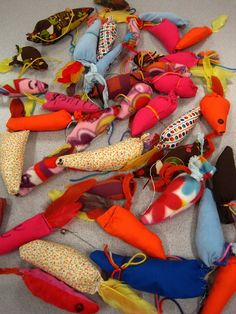 BROWNIE TROOP - we made cat toys for our local animal shelter.