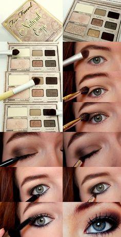 Soft Matte Smokey Eye using Too Faced natural eye palette